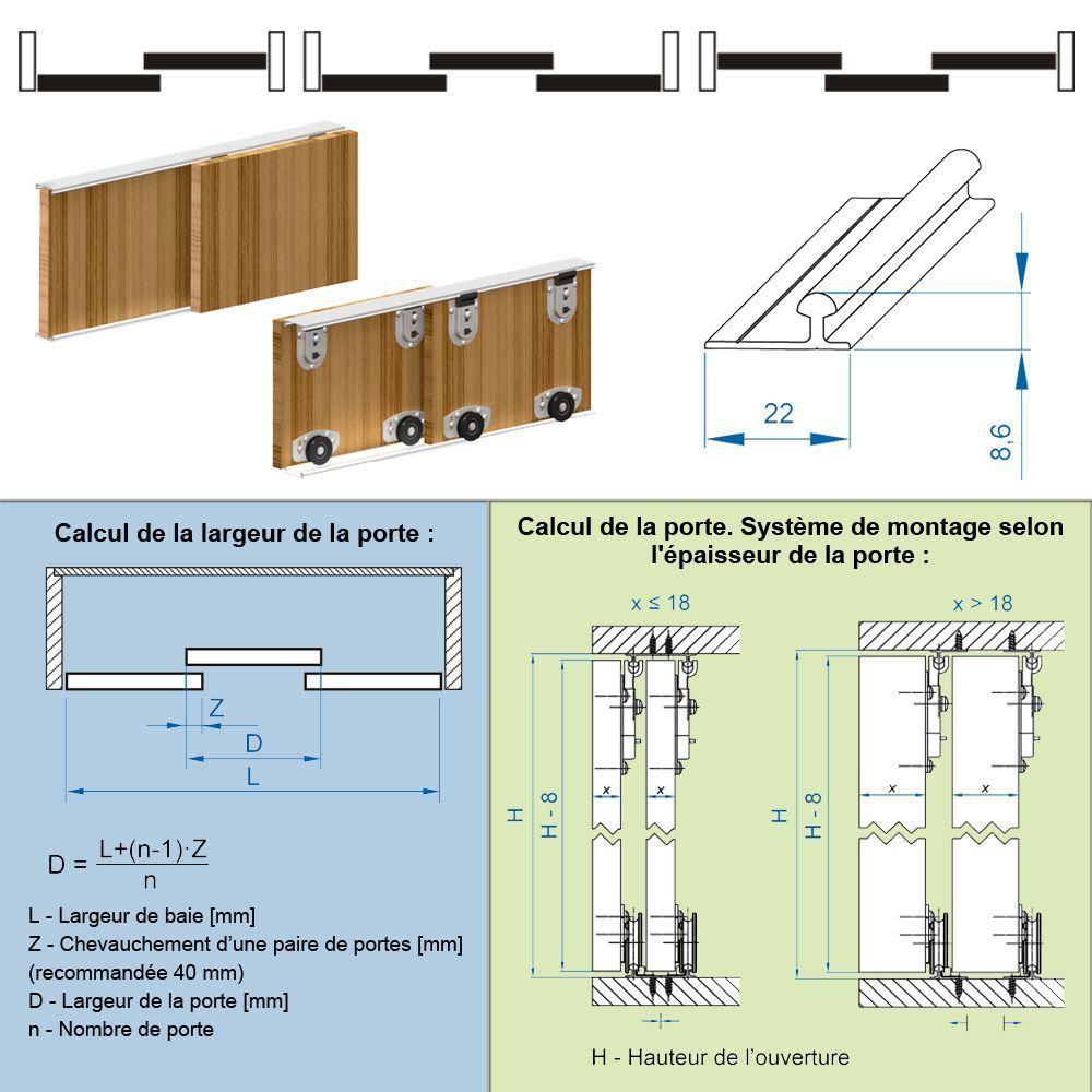Systeme Rail Pour Porte Coulissante Placard Menuiserie Image Et - Porte placard coulissante et menuiserie porte coulissante